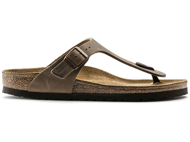Birkenstock Gizeh Flips Oiled Leather Regular, tabacco brown